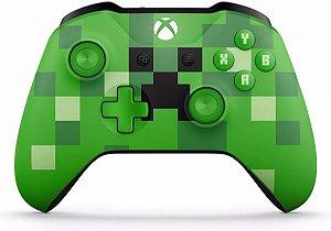 Controle Xbox One S Minecraft Cor Verde