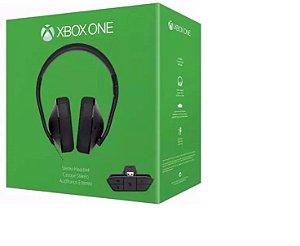 Headset Fone Xbox One Stereo Preto  Com Adaptador