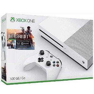Console Xbox One 500Gb + Battlefield 1 - COR BRANCA