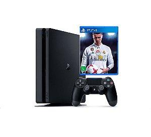 Console PS4 Slim 1Tb + Fifa 2018
