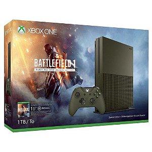 Console Xbox One S 1Tb + Battlefield 1 - COR (PRETO)