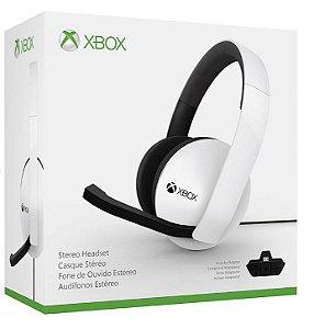 Headset Fone Xbox One Stereo Branco Com Adaptador
