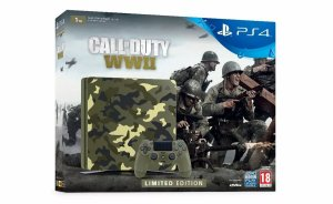 Ps4 Camuflado Slim Sony Playstation 4 1tb Call Of Duty Ww 2