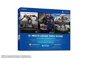 PS4 500 GB COM 3 JOGOS E  3 MESES DE LIVE