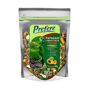 Mistura De Sementes Para Papagaio C/ Frutas Prefere - 400g   10% DE DESCONTO