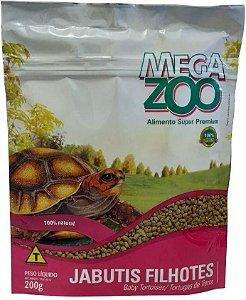 Ração Extrusada Megazoo Jabutis Filhotes 200g e 5kg