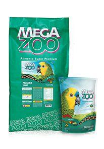 Ração Megazoo Papagaio Light 600g e 12kg