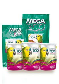 Ração Megazoo Papagaio Original Regular Bits - AM16 - 600g, 4kg e 12kg