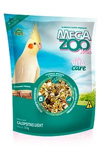 Megazoo Mix  Calopsitas Light com Vitacare- 350g