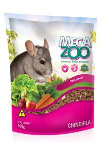 Ração Megazoo Chinchila - 500g e 3kg