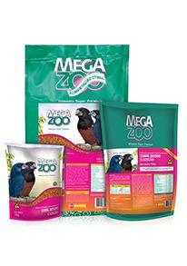 Ração Megazoo Curió, Bicudo e Azulão - 350g e 5kg