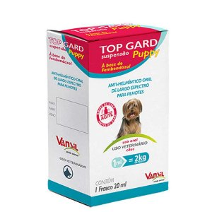 Top Gard Puppy 20ml - Vermífugo a base de Fembendazole