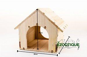 Casinha de madeira para mini coelhos