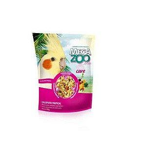 Megazoo Mix Calopsita Tropical com VitaCare 22 alimentos integrais 500g e 1,2kg