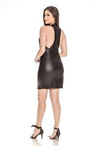 Vestido Simone Feminino Couro Pelica Legítima