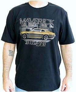 Camiseta Masculina Maverick Lateral Preta