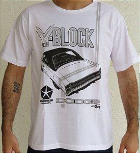 Camiseta Masculina Dodge V Block Branca