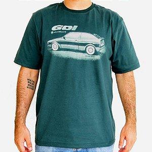 Camiseta Masculina Gol Quadrado Verde
