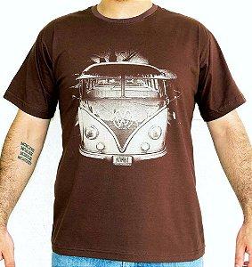 Camiseta Masculina Kombi Marrom