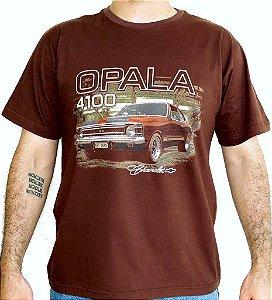 Camiseta Masculina Opala 4100 Marrom