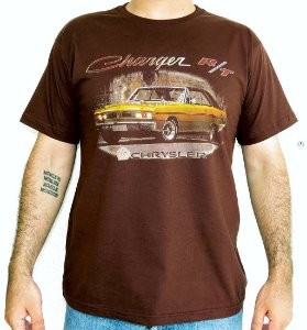 Camiseta Masculina Dodge Charger RT Marrom
