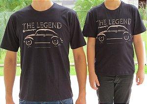 Camiseta Pai e Filho Fusca Legend Preta