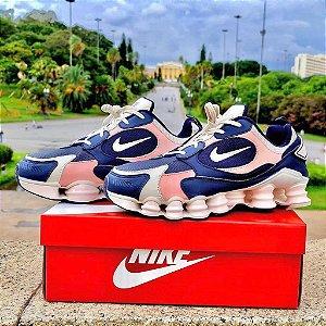 Tênis Nike Shox 12 Molas TL 2021 - Azul/Rosa