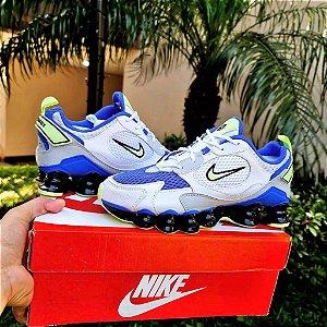 Tênis Nike Shox Novo 12 Molas TL - Branco/Azul e Verde
