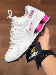 Tênis Nike Shox - Branco/Rosa