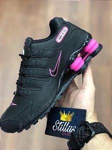 Tênis Nike Shox - Preto/Rosa