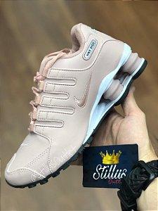 Tênis Nike Shox - Rosa/Branco