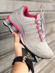 Tênis Nike Shox - Cinza/Rosa