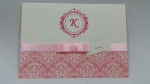 Convite de debutante Rosa e branco