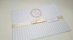 Convite debutante casamento perolado