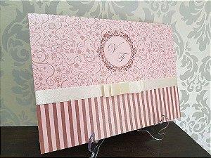Convite 15 anos pink rosa metalizado