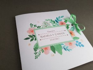 Convite casamento floral perolado