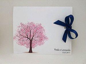 Convite de casamento árvore cerejeira