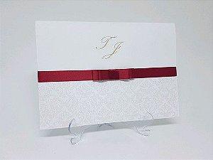 Convite clássico casamento debutante