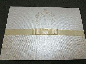 Convite de casamento 250g metalizado ofe