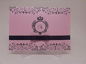Convite debutante rosa perolado