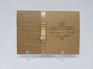 Convite rustico - dourado
