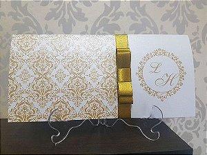 Convite de bodas de ouro dourado