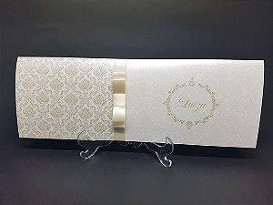 Convite para casamento dourado