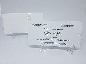 Convite casamento classico com envelope