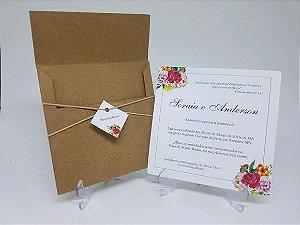 Convite - Floral bouque