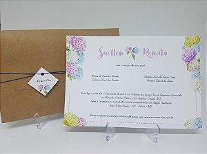 Convite rustico hortencias