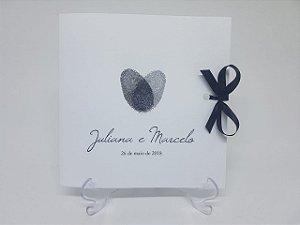 Convite casamento digital de coração