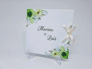 Convite floral verde