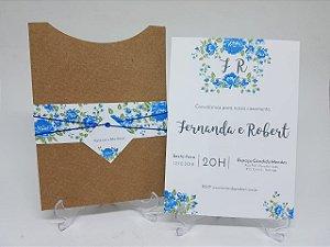 Convite flores azuis