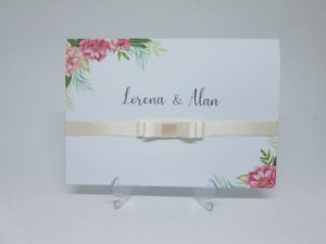 Convite casamento floral suave